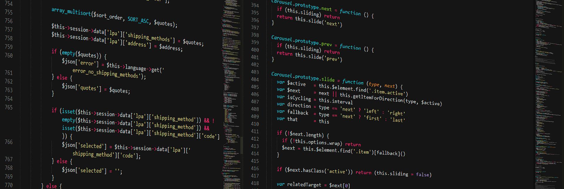 Una pantalla de ordenador con código de programación